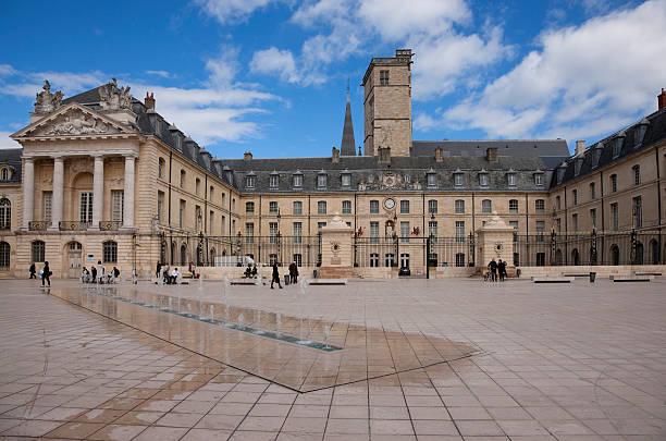 Liberation square in Dijon, France stock photo