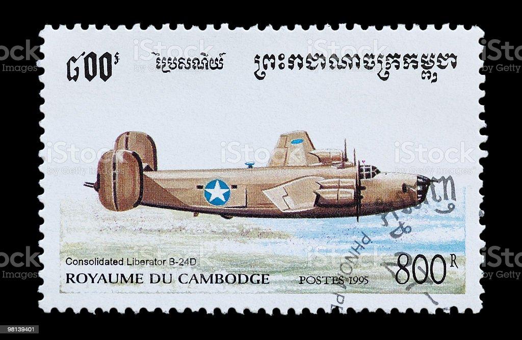 Liberator B-24D royalty-free stock photo