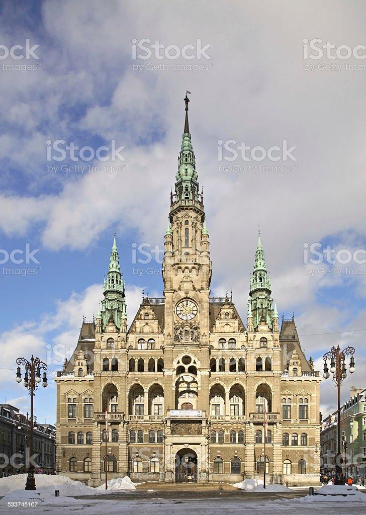 Liberec Town Hall. Czech Republic stock photo