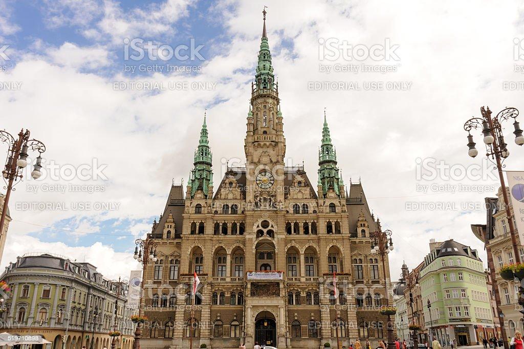 Liberec Town Hall stock photo
