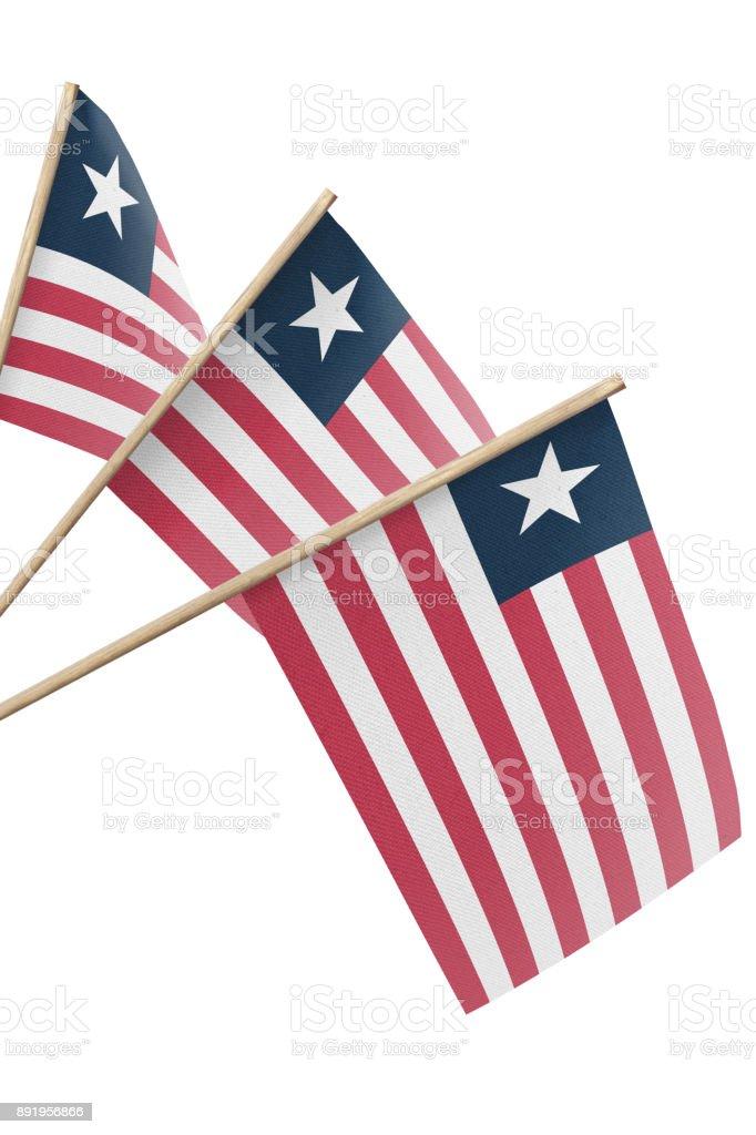Liberia Flag stock photo