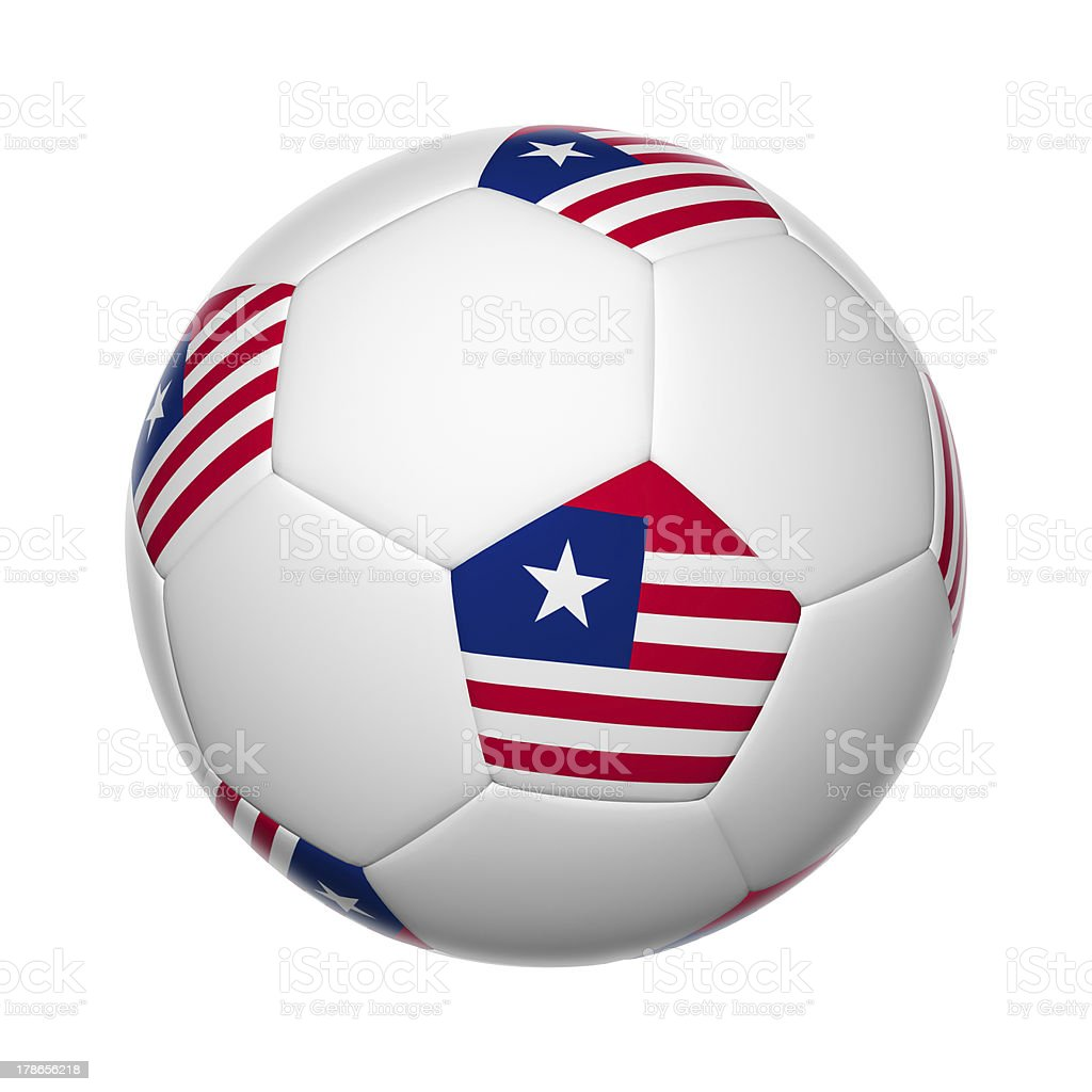 Liberia soccer ball stock photo