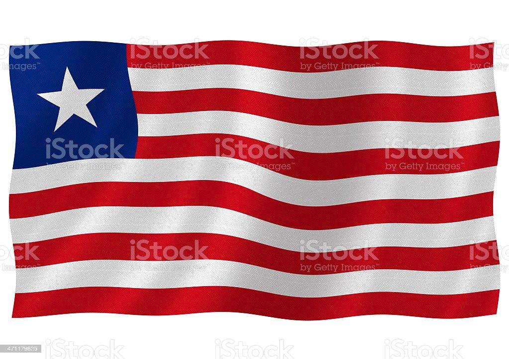 liberian flag royalty-free stock photo