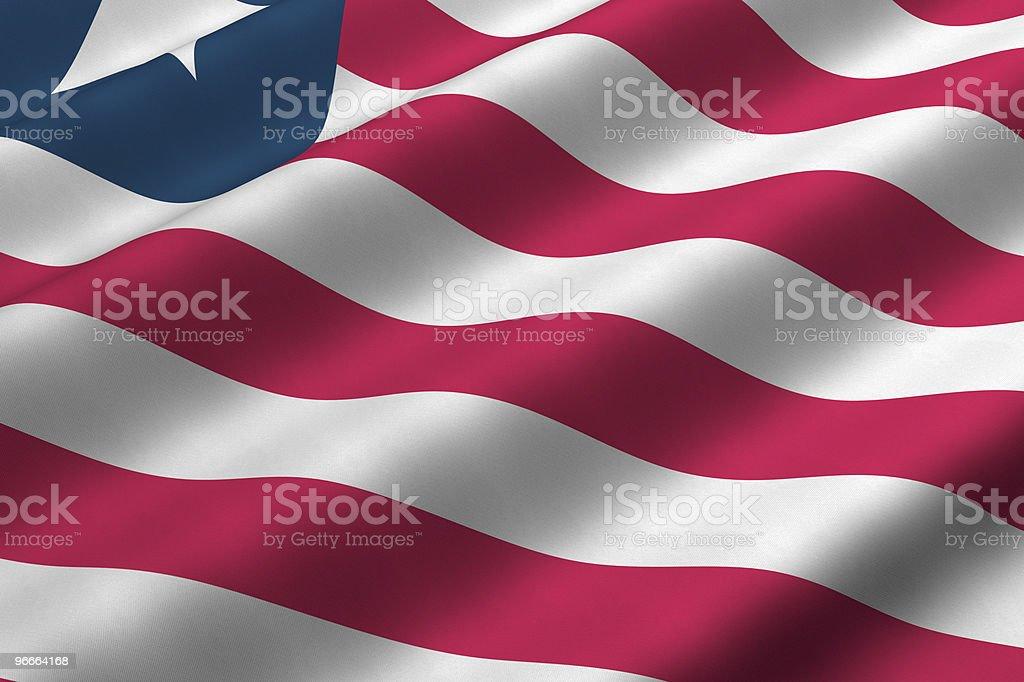 Liberian Flag stock photo