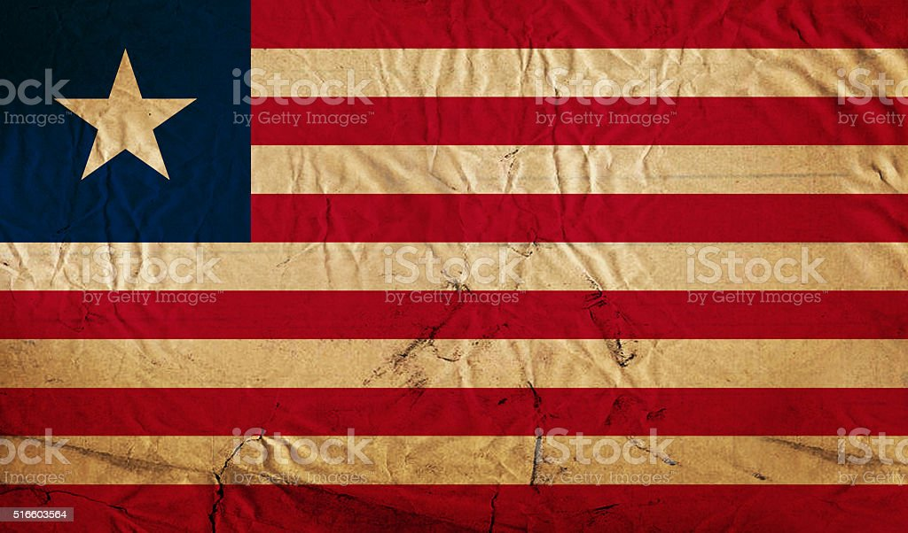 Liberian grunge flag stock photo