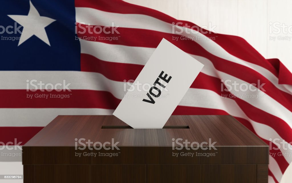Liberian Presidential and Legislative Elections Concept stock photo