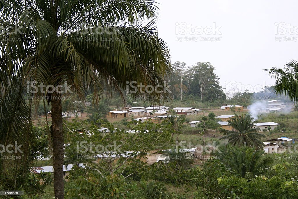 Liberian Town royalty-free stock photo