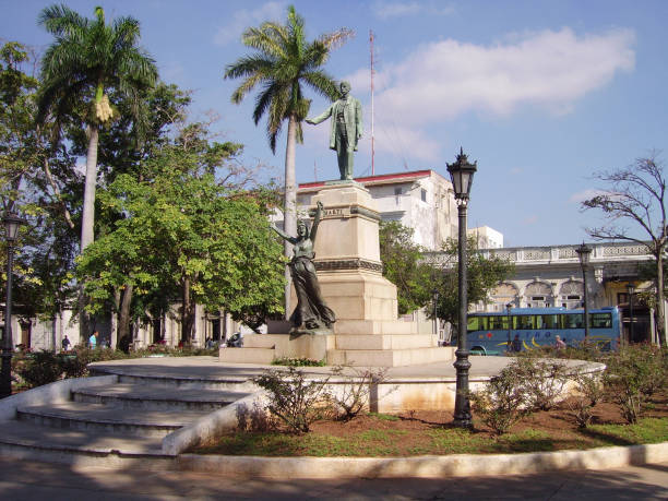 Libertad Square in Matanzas city, Cuba stock photo