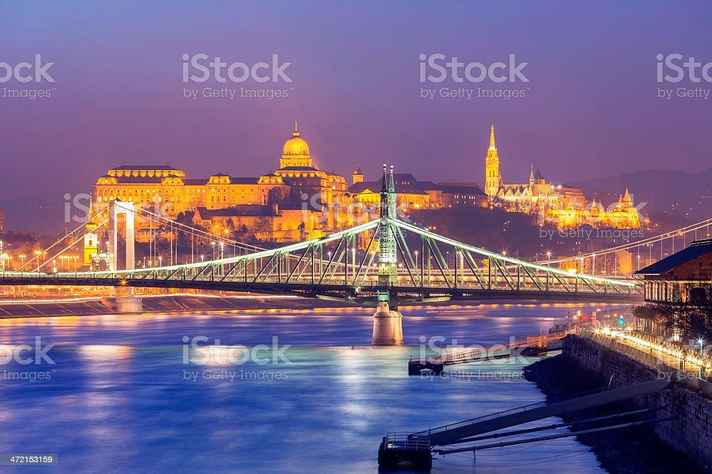 Liberty and Elizabeth Bridge royalty-free stock photo