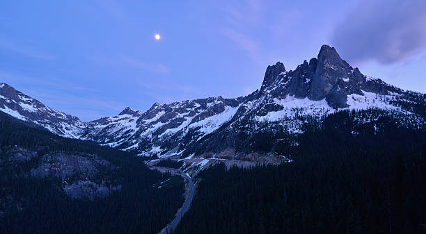 Liberty Bell and the Early Winter Spires, North Cascades stock photo