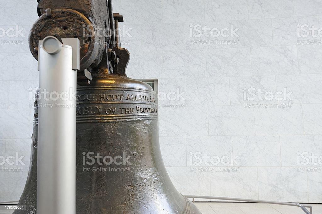 Liberty bell close up stock photo