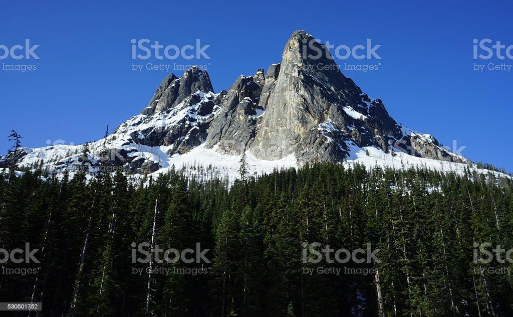 Liberty Bell Mountain stock photo