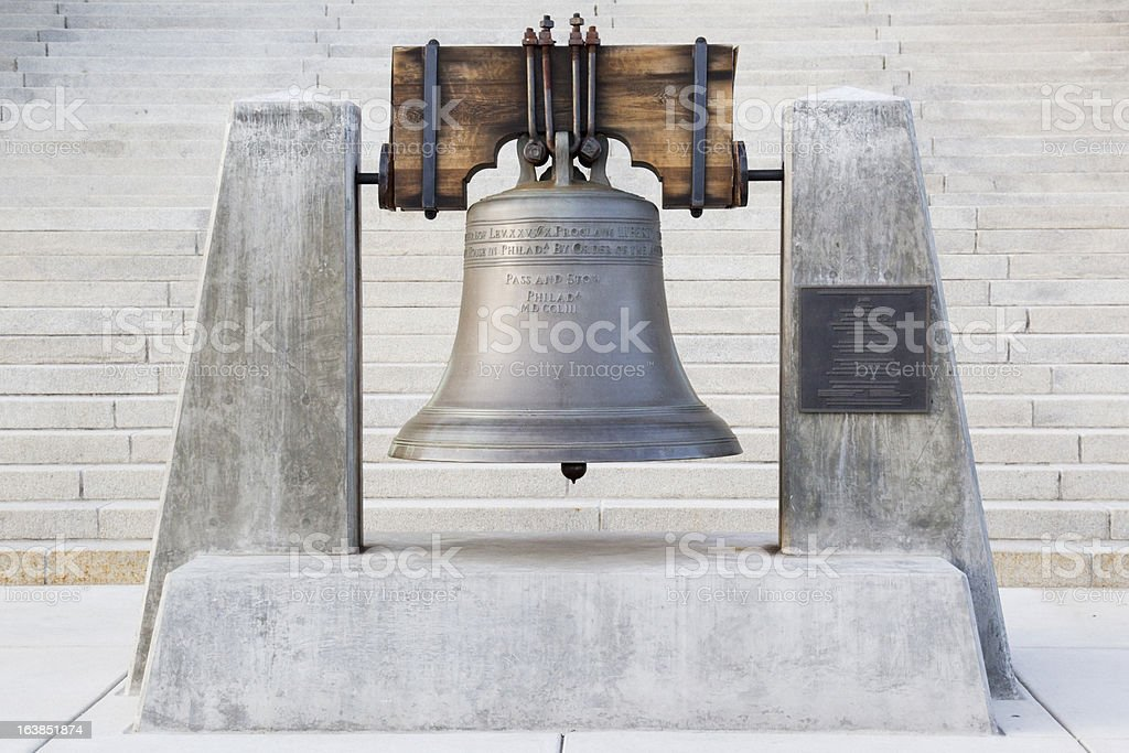Liberty Bell Replica - Idaho State Capitol Building stock photo