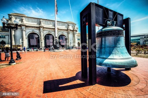 Liberty Bell Outside of Union Station, Washington D.C. USA