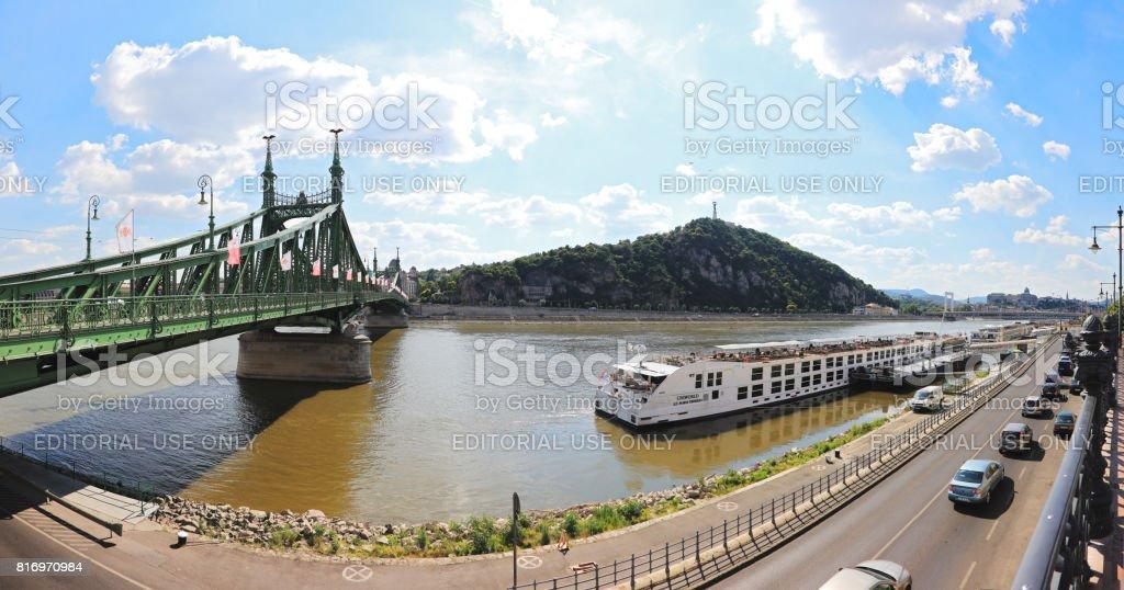 Liberty Bridge, Budapest , Hungary stock photo