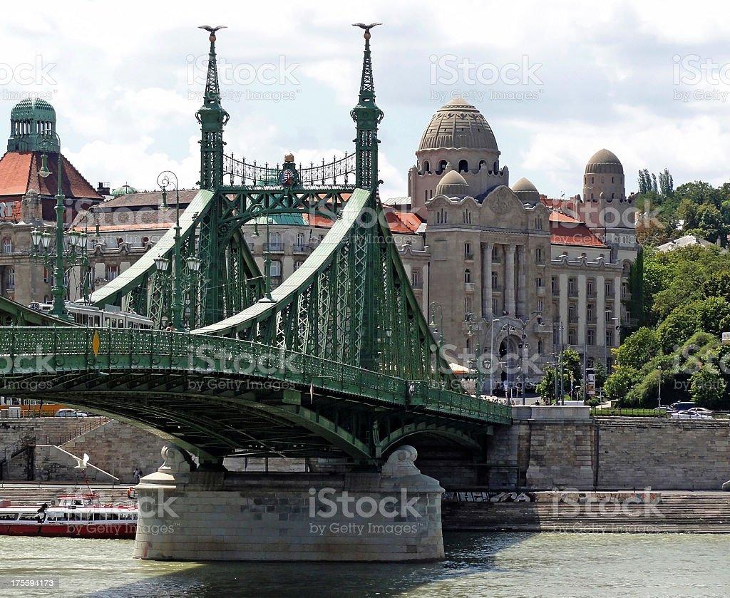 Liberty Bridge, Budapest stock photo