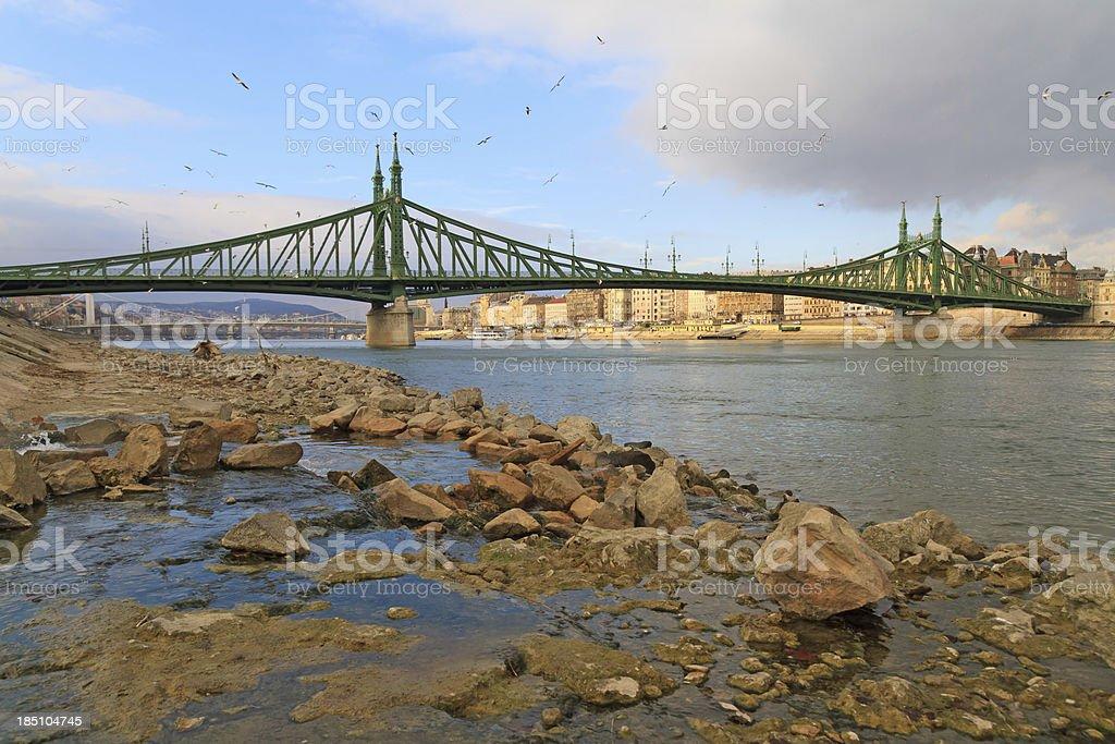 Liberty bridge, Budapest royalty-free stock photo