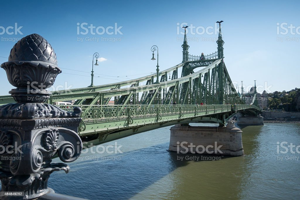 Liberty Bridge, Budapest stock photo
