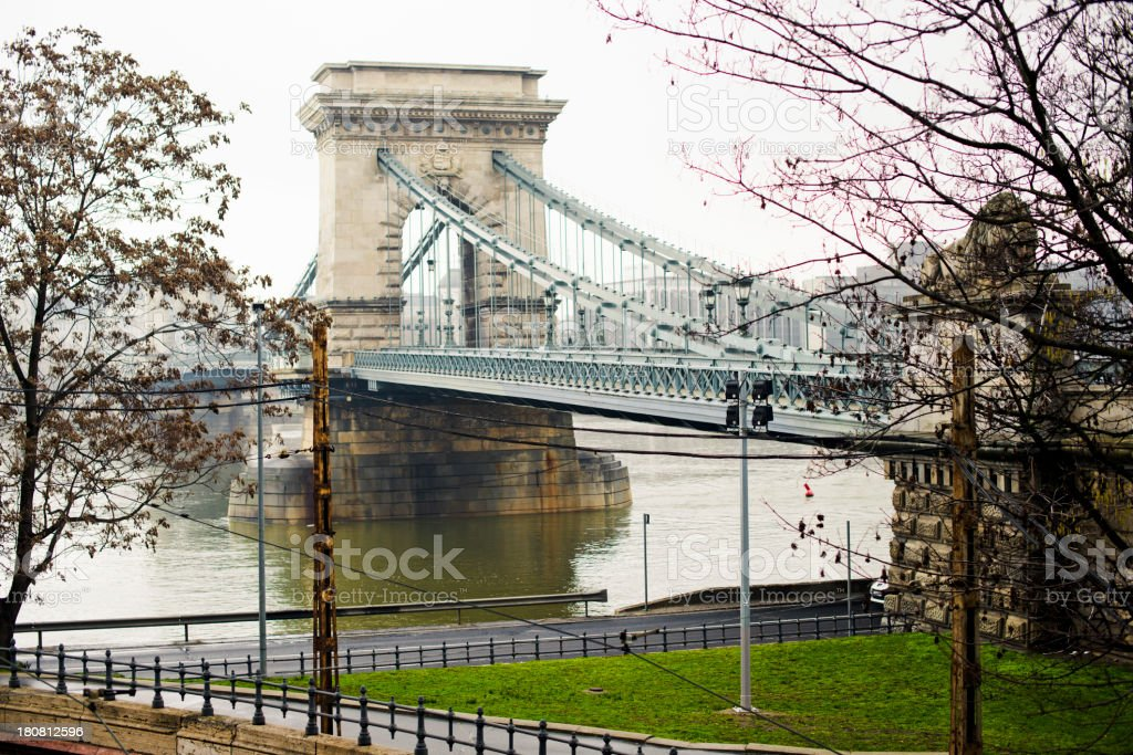 Liberty Bridge - Chain Bridge Budapest royalty-free stock photo