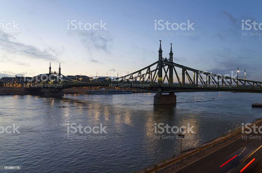 Liberty Bridge in Budapest, Hungary royalty-free stock photo