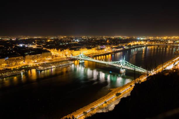 Liberty bridge in Budapest Liberty bridge in Budapest liberty bridge budapest stock pictures, royalty-free photos & images