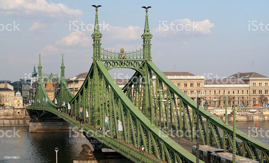 Liberty Bridge on Danube royalty-free stock photo