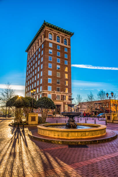 Liberty Building taken from the Historic Poinsett Hotel in Downtown Greenville, South Carolina Liberty Building taken from the Historic Poinsett Hotel in Downtown Greenville, South Carolina. liberty bridge budapest stock pictures, royalty-free photos & images