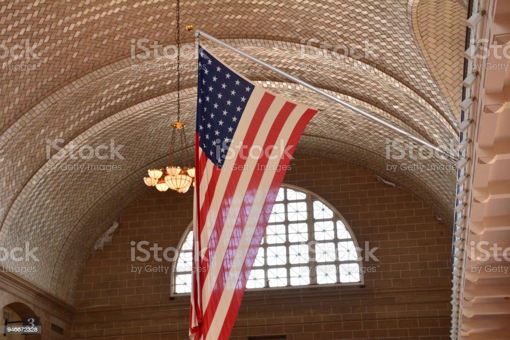Ellis Island, Statute of Liberty, NYC Skyline