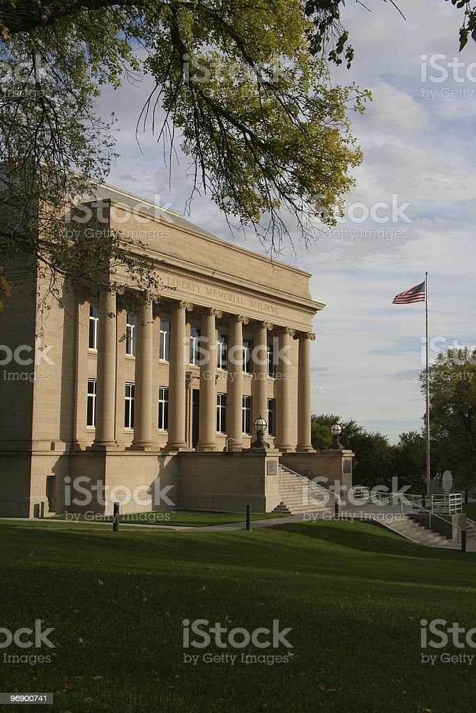 Liberty Memorial Building on State Capital Grounds royalty-free stock photo