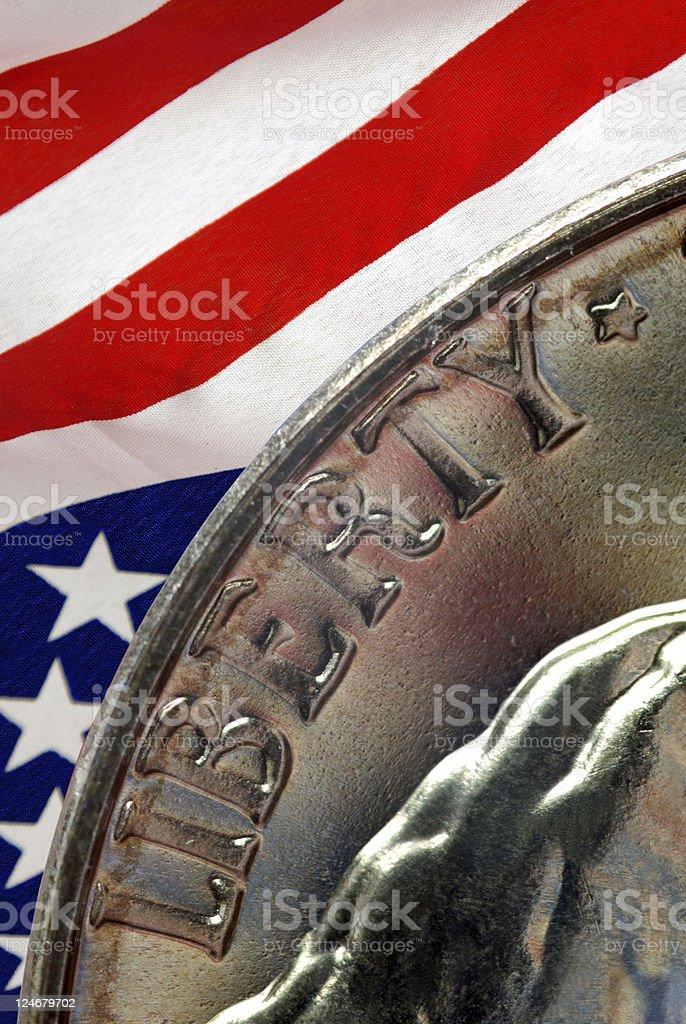 Liberty Nickel stock photo