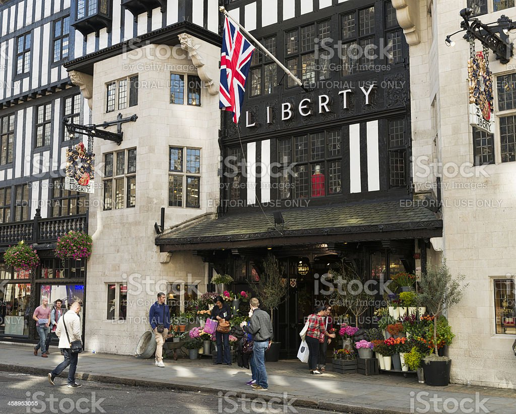 Liberty of London Department Store royalty-free stock photo