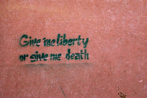 liberty or death - double_p stockfoto's en -beelden