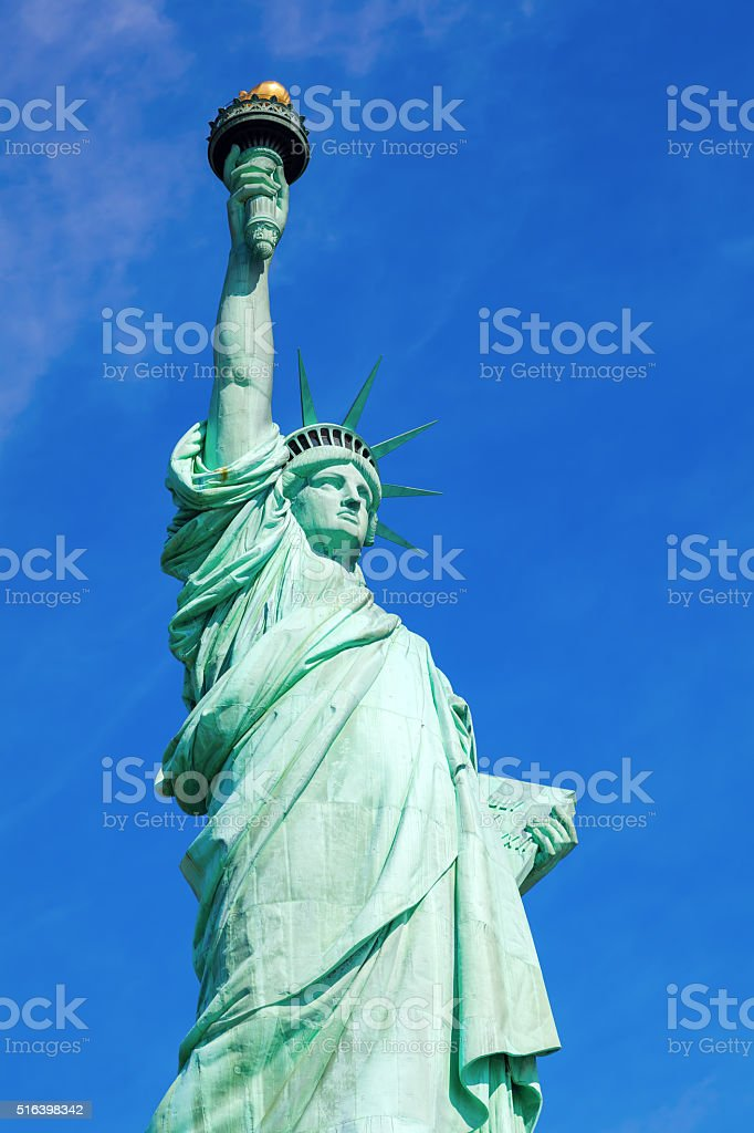 Liberty Statue in NYC stock photo