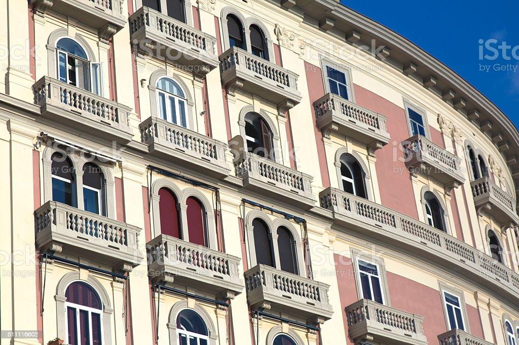 Liberty syle facade stock photo