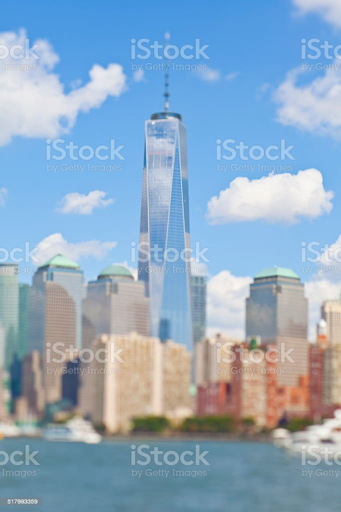 Liberty tower from the Bay stock photo