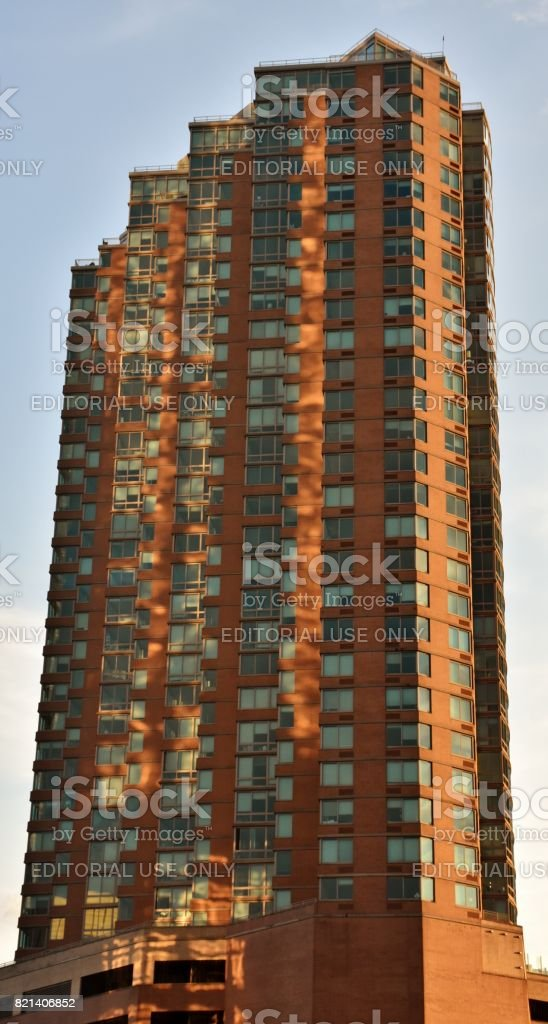 Liberty Towers in Jersey City stock photo