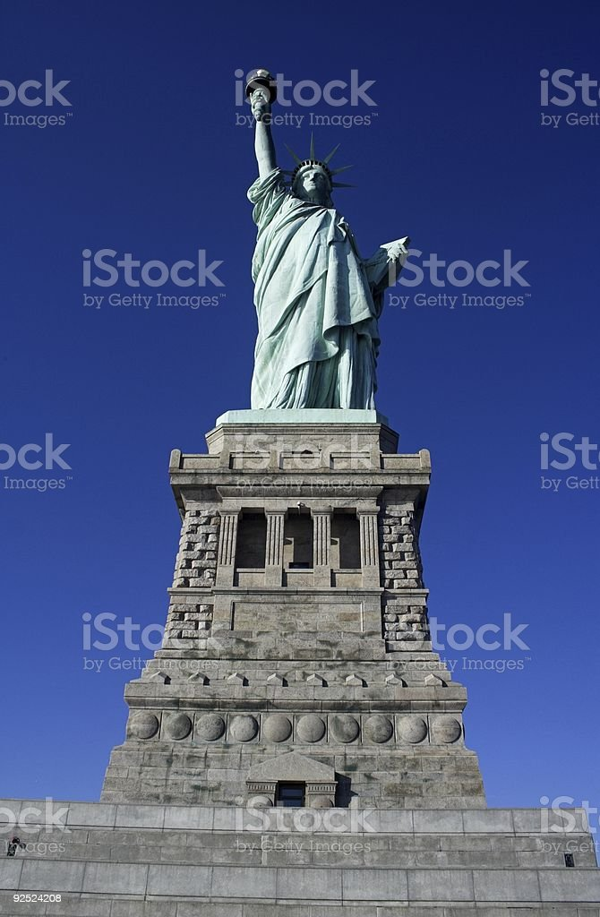 Liberty with pedestal royalty-free stock photo