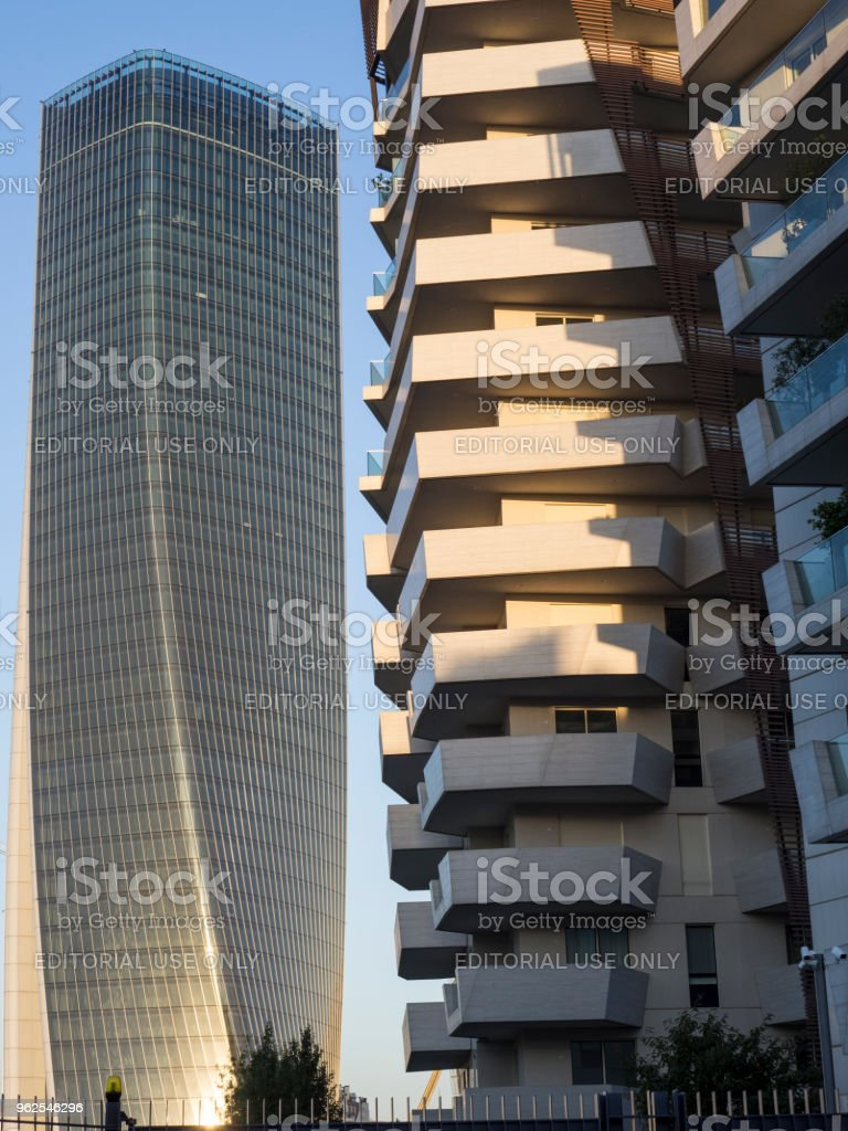 Libeskind buildings and Hadid tower at Citylife, Milan - Royalty-free Architecture Stock Photo
