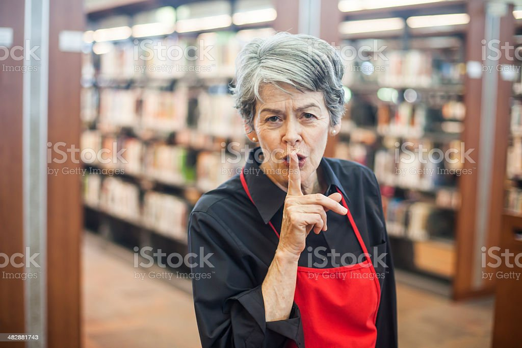 Librarian Shhh royalty-free stock photo