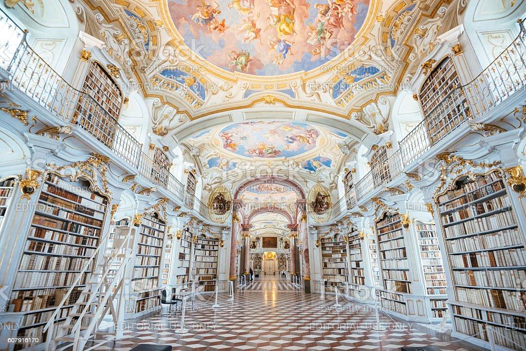 Library Admont Abbey, Austria stock photo