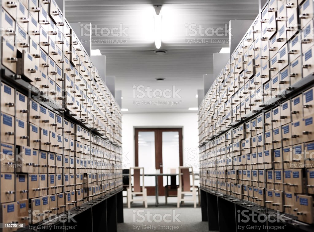 Library Archive stock photo
