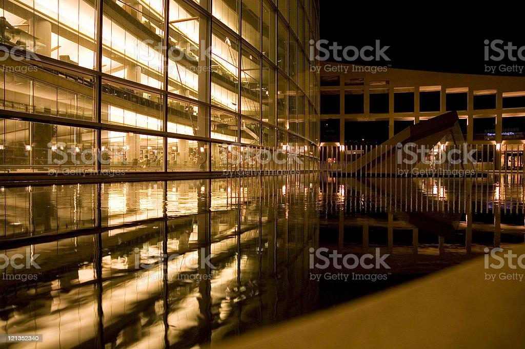Library at Night royalty-free stock photo