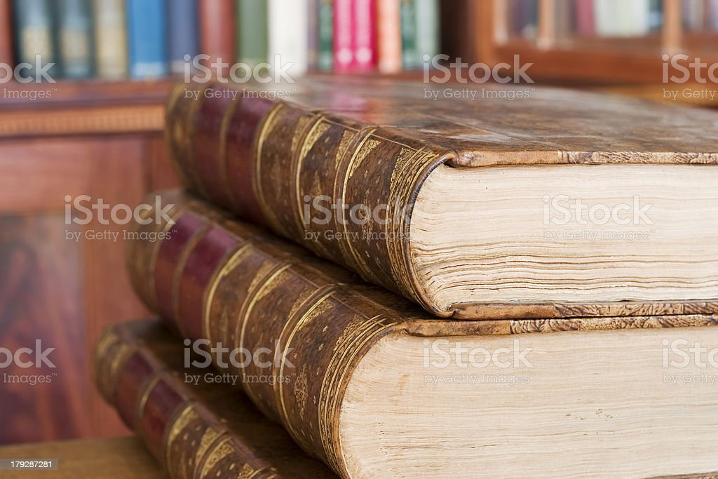 Library books royalty-free stock photo
