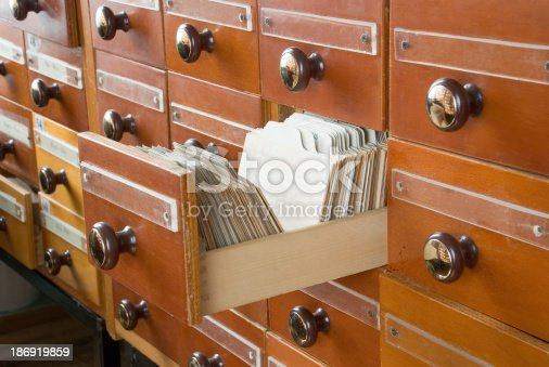 535191355istockphoto Library Card Catalog 186919859