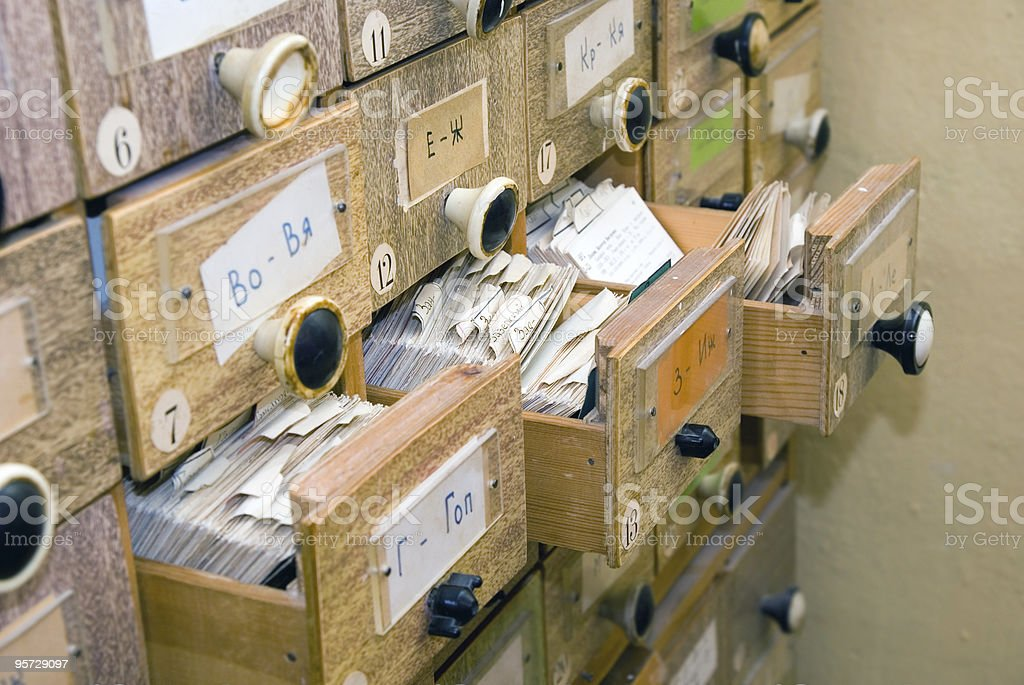 library card index royalty-free stock photo
