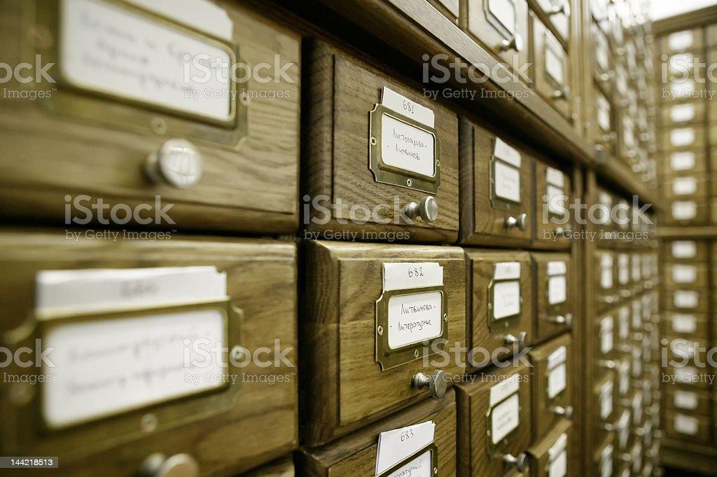 Library catalog stock photo