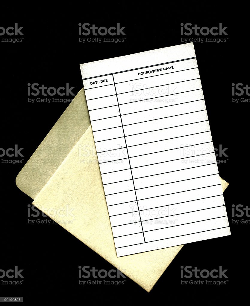 Library check out card royalty-free stock photo