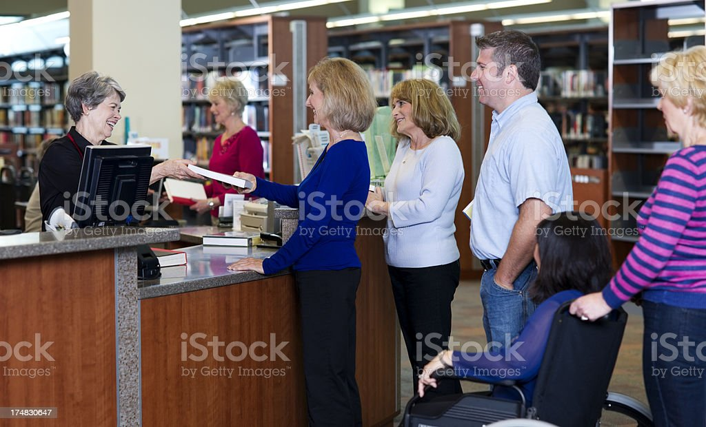 Library Checkout royalty-free stock photo