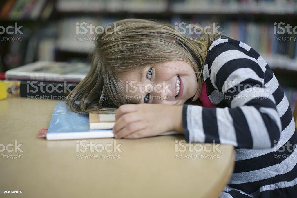 Library Girl stock photo