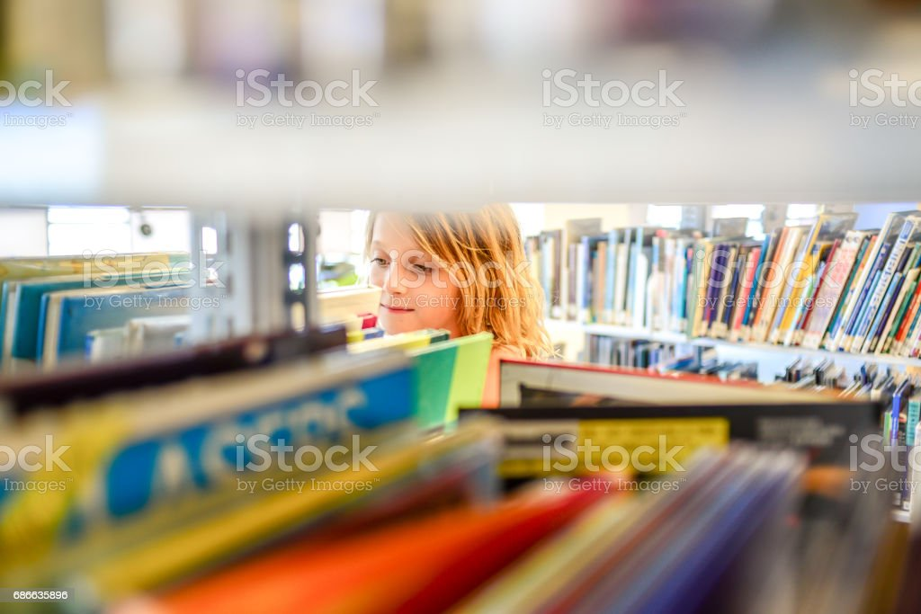 Library girl royalty-free stock photo